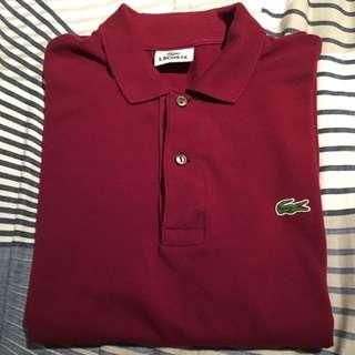 Lacoste Polo Shirt Maroon