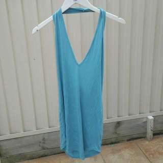 MISSGUIDED turquoise halter dress