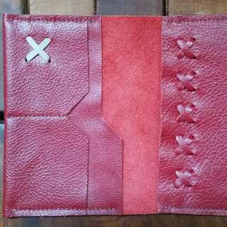 Leather Passport Holder_Maroon
