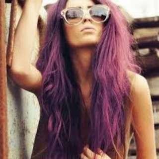 Hair Dye Coloring Powder (Grape Purple/Aubergine Purple)