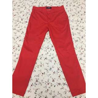 MNG Red Straight Cut Ankle Khakis