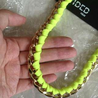 Neon yellow golden chain   -H&M  -Brand New with tag  - $8