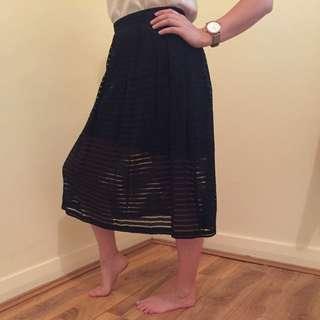 FOREVER NEW Black Lined Midi Skirt