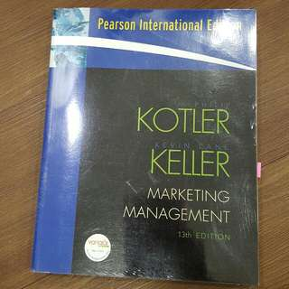 Marketing Management by KOTLER KELLER 13th Edition - Preentice Hall / Pearson International