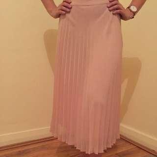 SPORTSGIRL Baby Pink Pleated-Style Skirt