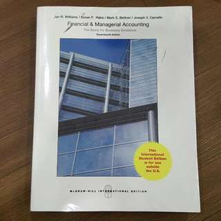 Financial & Managerial Accounting 17th Edition - Mc Graw Hill