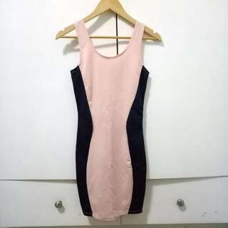 Two-tone Bodycon Dress