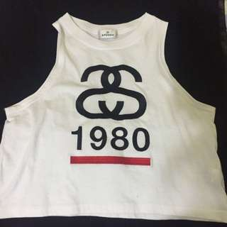 *REDUCED*Stussy Crop White Singlet
