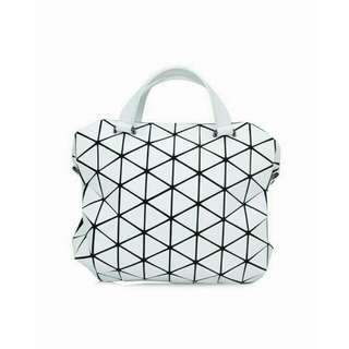 83883ebecb BNWT Authentic Issey Miyake Bao Bao Bag Tonneau Matt Mini Boston Bag In  Matte White