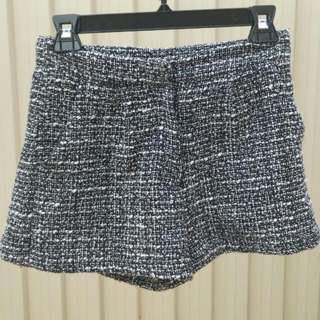 ALICE IN THE EVE - GENERAL PANTS speckled fuzzy black & white shorts