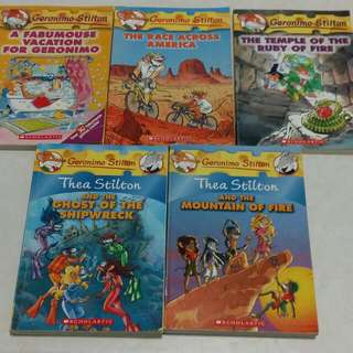 Reduced Price ! Geronimo & Thea Stilton Story Books
