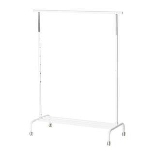 Ikea RIGGA Clothes rack (White)