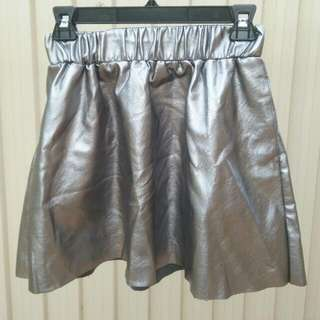 VERO MODA metallic space themed skater skirt