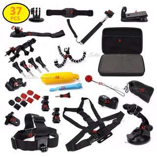 BRAND NEW 37pcs GoPro 5 4 3+ 3 2 1 Accessories Pack with Case $35