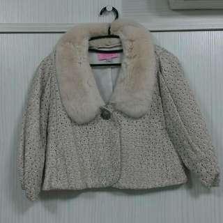 Robyn 毛領5分袖外套