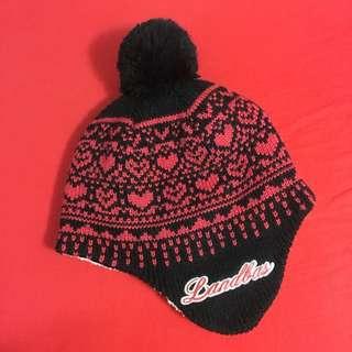 Landbas 球球毛線帽 飛行帽 毛帽 罩耳 內刷毛