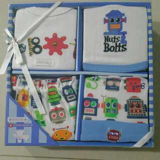 4-pc Layette Playtime Set - For Boy