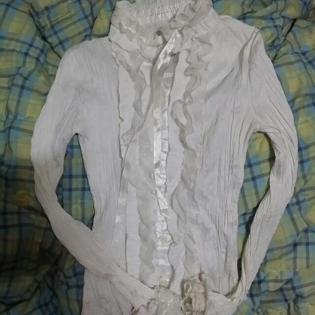 宮廷風白襯衫