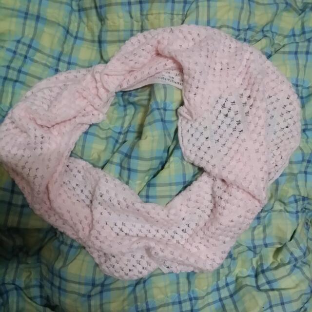 粉色脖子圍巾