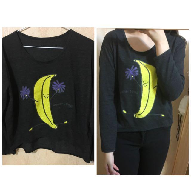 香蕉人 棉質上衣 T 恤