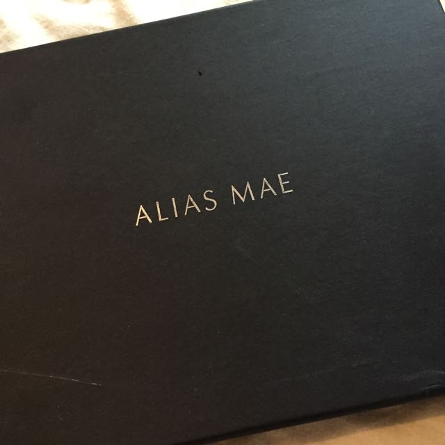 Alias Mae Black Velvet Heels With Gold Spiked Anklet
