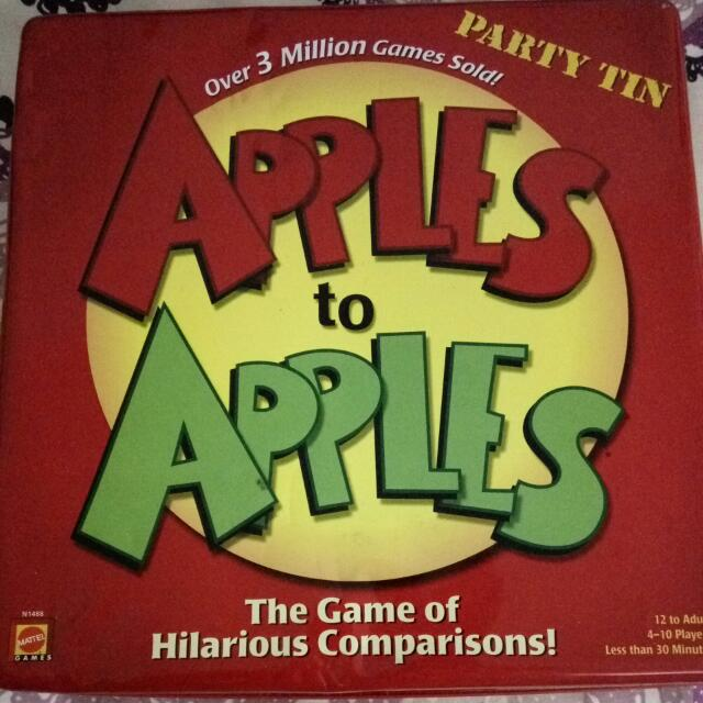 Apples to Apples Comparison Games
