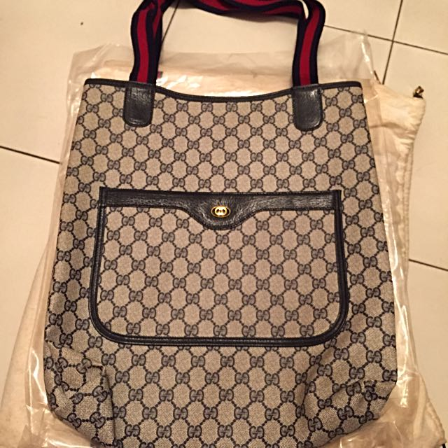 36698a127fc Authentic Vintage Gucci Accessory Collection - GG Pattern Shoulder ...