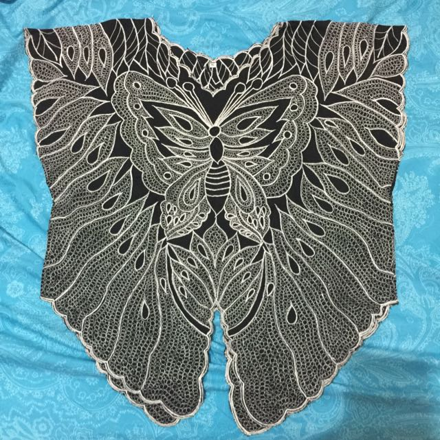 Black Butterfly Top From Bali