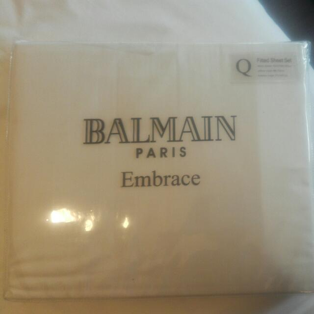 REDUCED Brand New Balmain Paris Queen Fitted Sheets Set