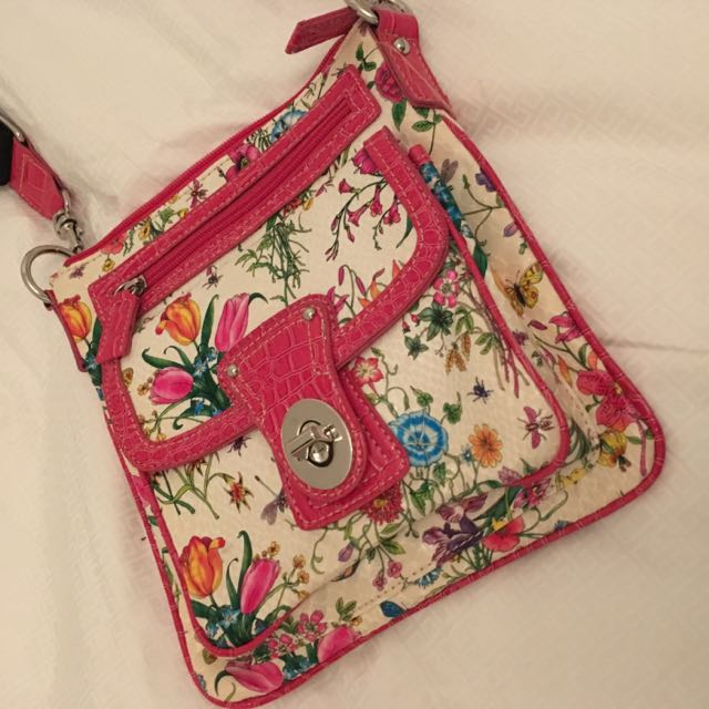 Brand New Floral Crossbody Purse