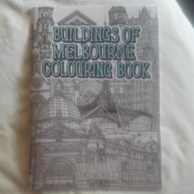 REDUCED Brand New In Packet Melbourne Colouring Book