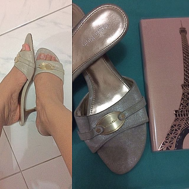 💕 Repriced! Calvin Klein Authentic Silver Sandals