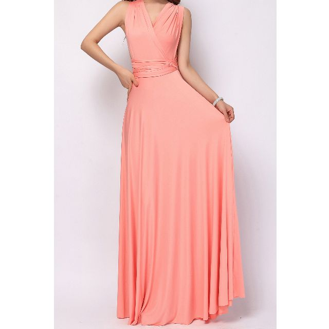 Coral Pink Infinity Dress - with inner tube