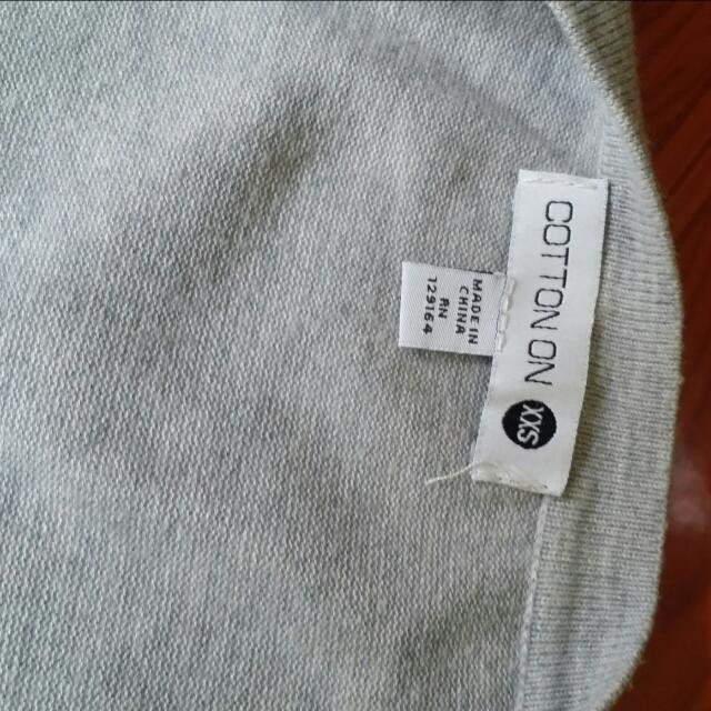 Cotton On Cardigan Gray