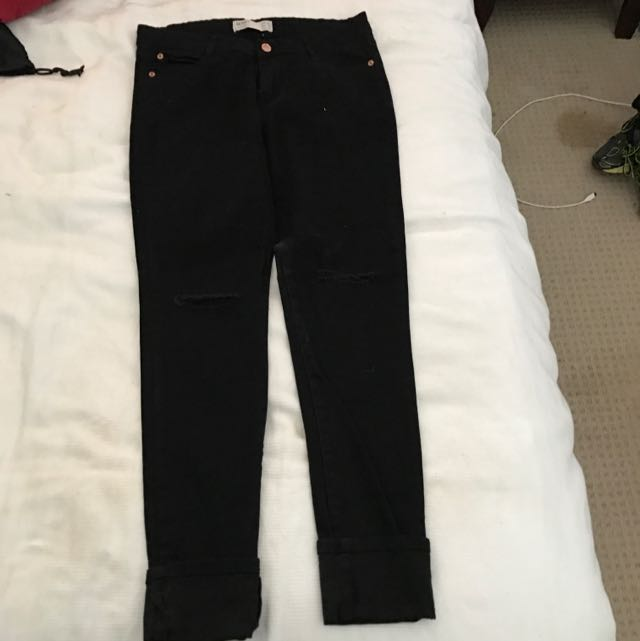 Cotton On Jeans. Black. Size 12.
