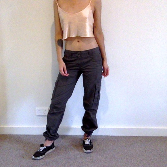 Dark Khaki Brown Cargo Pants