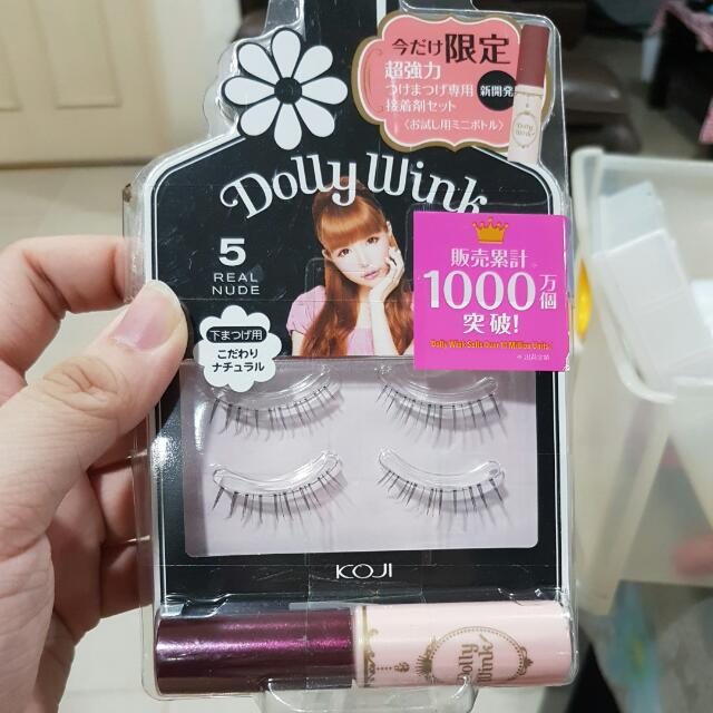 Dolly Wink No 5 Real Nude Lower Lashes And Eyelash Glue Health
