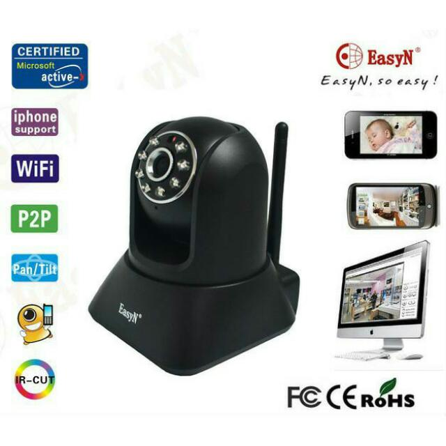 EasyN WIFI P2P 2-Way Audio Wireless IP Camera Nightvision