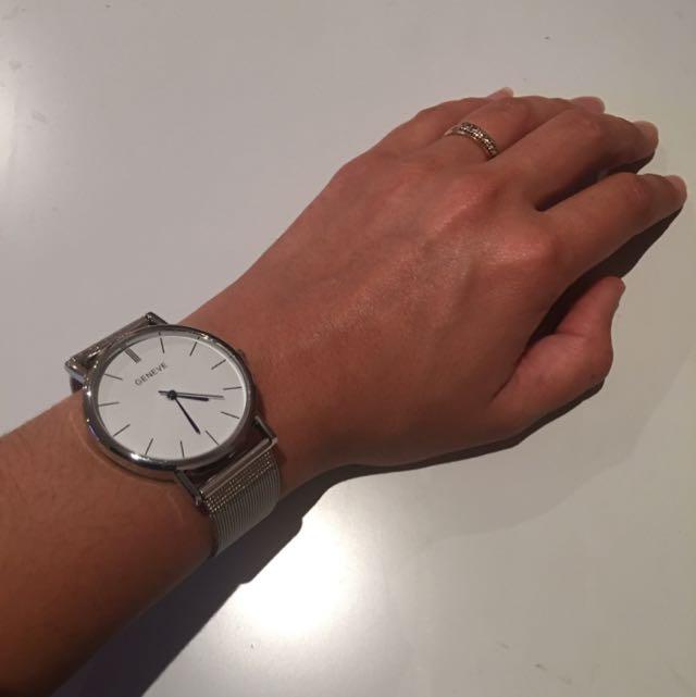 Geneve Silver Watch