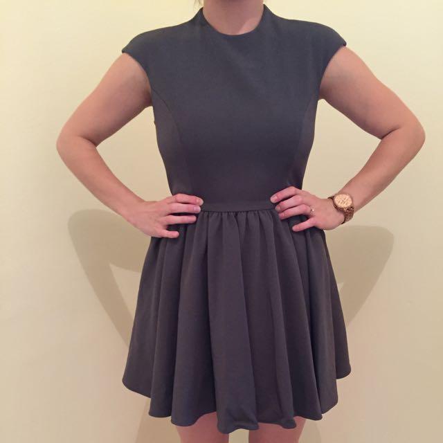 Grey Sleeveless Dress Size 10