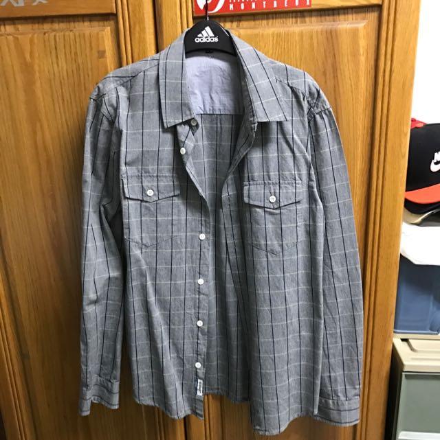 H:CONNECT 灰色格紋襯衫 Size:M