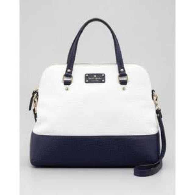 pristine kate spade grove court maise white navy