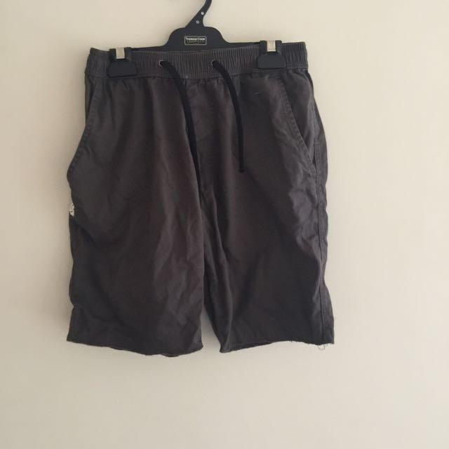 Khaki Size S Cotton Shorts