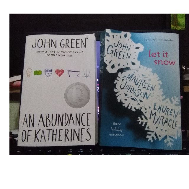 Let it snow and An abundance of Katherines by John Green
