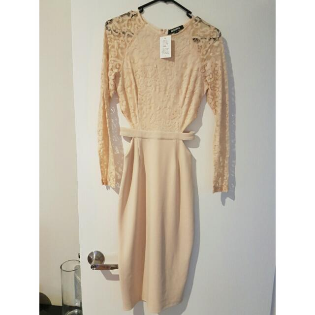 Misguided Beige Dress