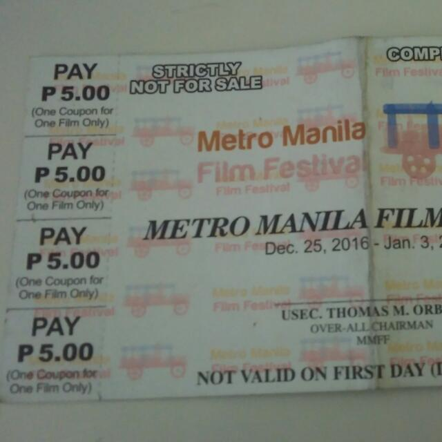 MMFF Voucher (8 Movies For Only 5 pesos )