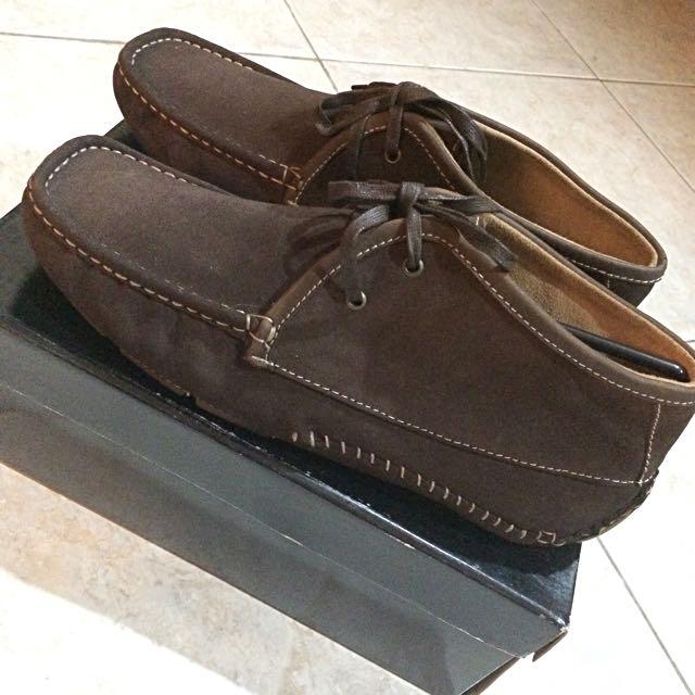 Ankle Moccasin Men Shoe