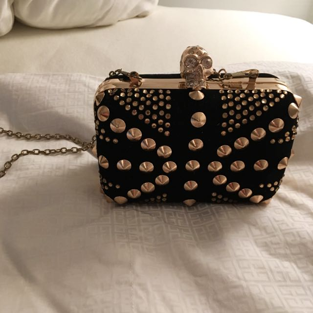 NEW Metal Skull Studded Handbag