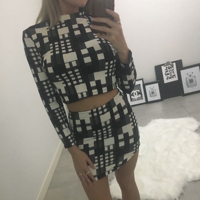 New Two Piece Dress Long Sleeve 6