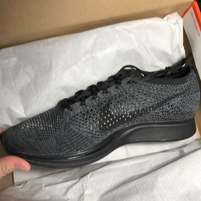00718e173ce6 Nike Flyknit Racer Midnight Triple Black